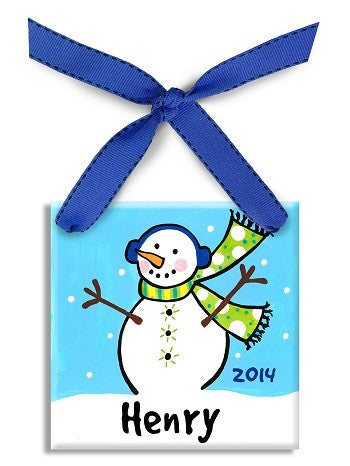 Personalized Snowboy Ornament