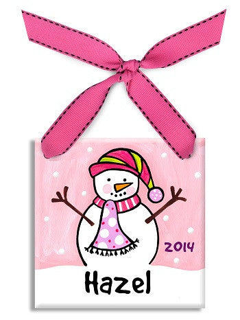 Personalized Snowgirl Ornament