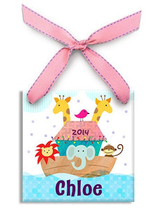 Personalized Noah's Ark Girl Ornament