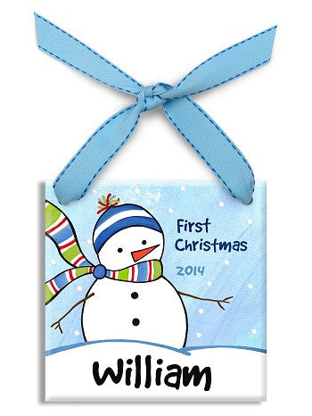 Personalized Chilly Snowboy Ornament