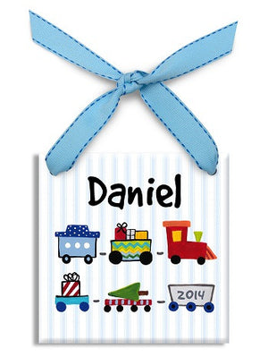 Personalized Toy Train Ornament
