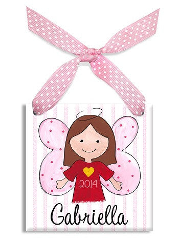 Personalized Our Little Angel Girl Brown Ornament