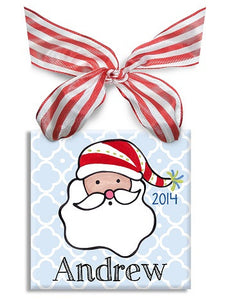Personalized Ho Ho Ho Boy Ornament