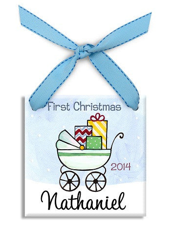 Personalized First Christmas Boy Ornament