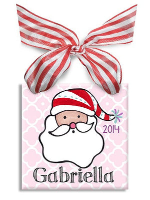 Personalized Ho Ho Ho Girl Ornament