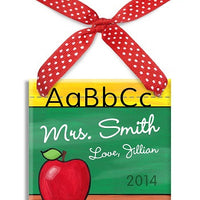 Personalized ABC Teacher Ornament