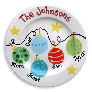 Personalized Family Ornaments Plate