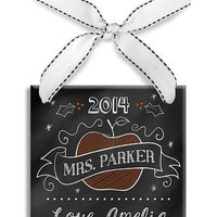 Personalized Teacher Chalkboard Ornament