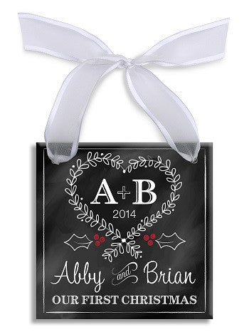 Personalized Initials Chalkboard Ornament
