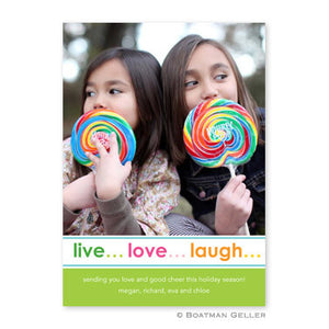 Live Love Laugh Holiday Photocard