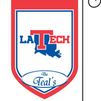 Monogrammed Louisiana Tech Garden Flag