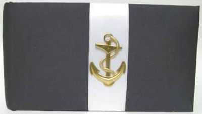 Navy Linen Anchor Album