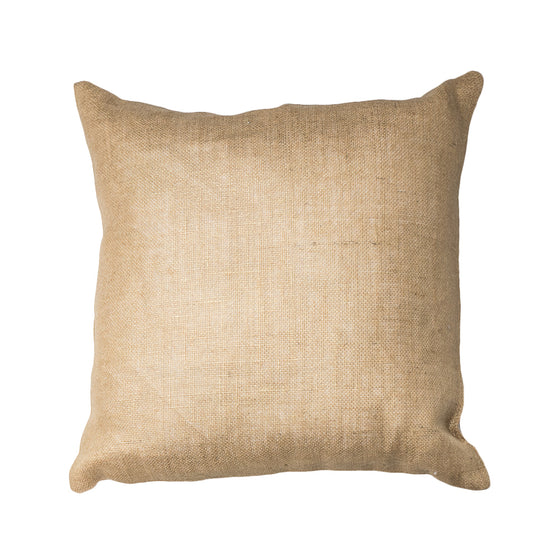 Gold Foil Burlap Pillow