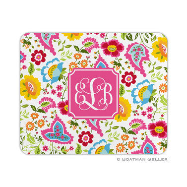 Bright Floral Mouse Pad