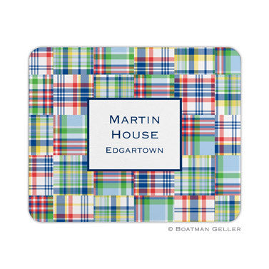 Madras Patch Blue Mouse Pad