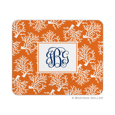Coral Repeat Mouse Pad