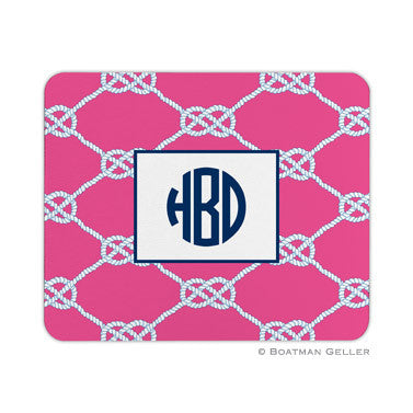 Nautical Knot Raspberry Mouse Pad