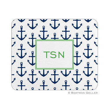 Anchors Navy Mouse Pad