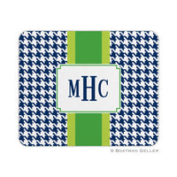 Alex Houndstooth Navy Mouse Pad