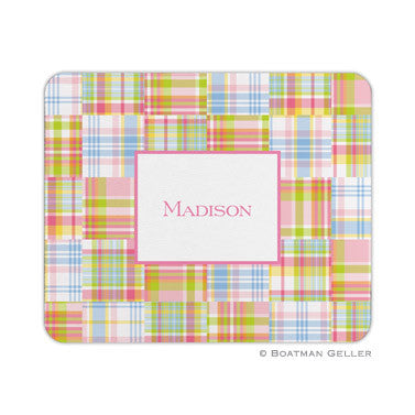 Madras Patch Pink Mouse Pad