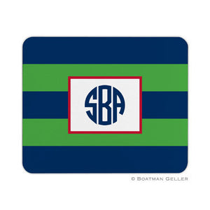 Rugby Navy & Kelly Mouse Pad