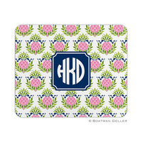 Pineapple Repeat Pink Mouse Pad