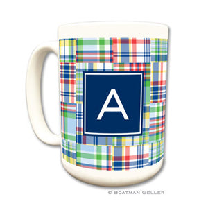 Madras Patch Blue Mug