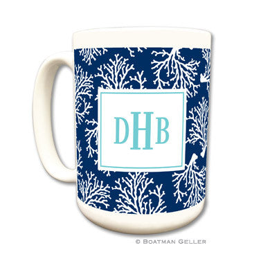 Coral Repeat Navy Mug