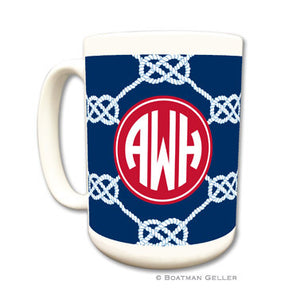 Nautical Knot Navy Mug