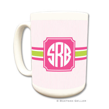 Seersucker Band Pink & Green Mug