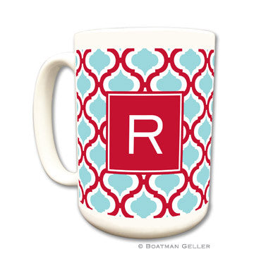 Kate Red & Teal Mug