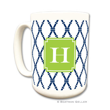 Bamboo Navy & Green Mug