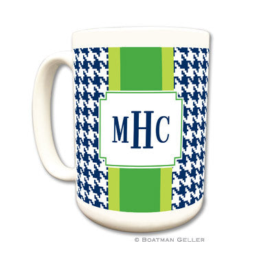 Alex Houndstooth Navy Mug