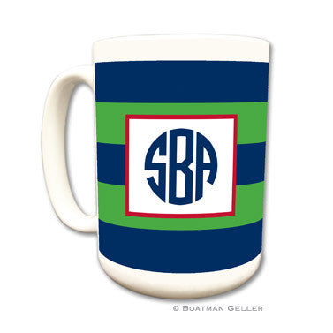 Rugby Navy & Kelly Mug