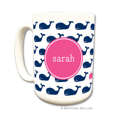 Whale Repeat Navy Mug