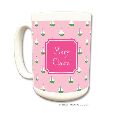 Little Sailboat Pink Mug