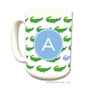 Alligator Repeat Blue Mug