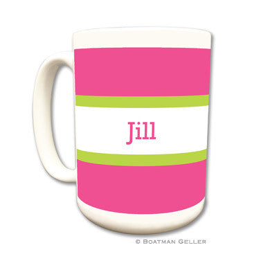 Stripe Raspberry & Lime Mug