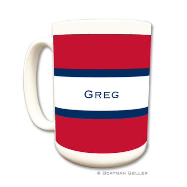 Stripe Red & Navy Mug