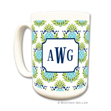 Pineapple Repeat Teal Mug