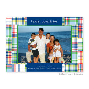 Madras Patch Blue Photocard