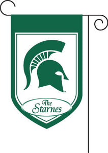 Monogrammed Michigan State Garden Flag
