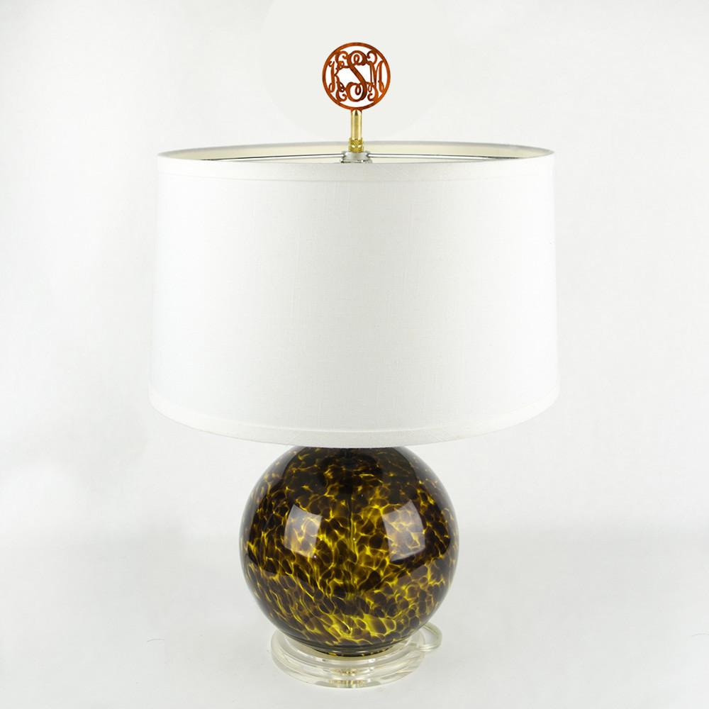 Block Monogram Lamp Finial