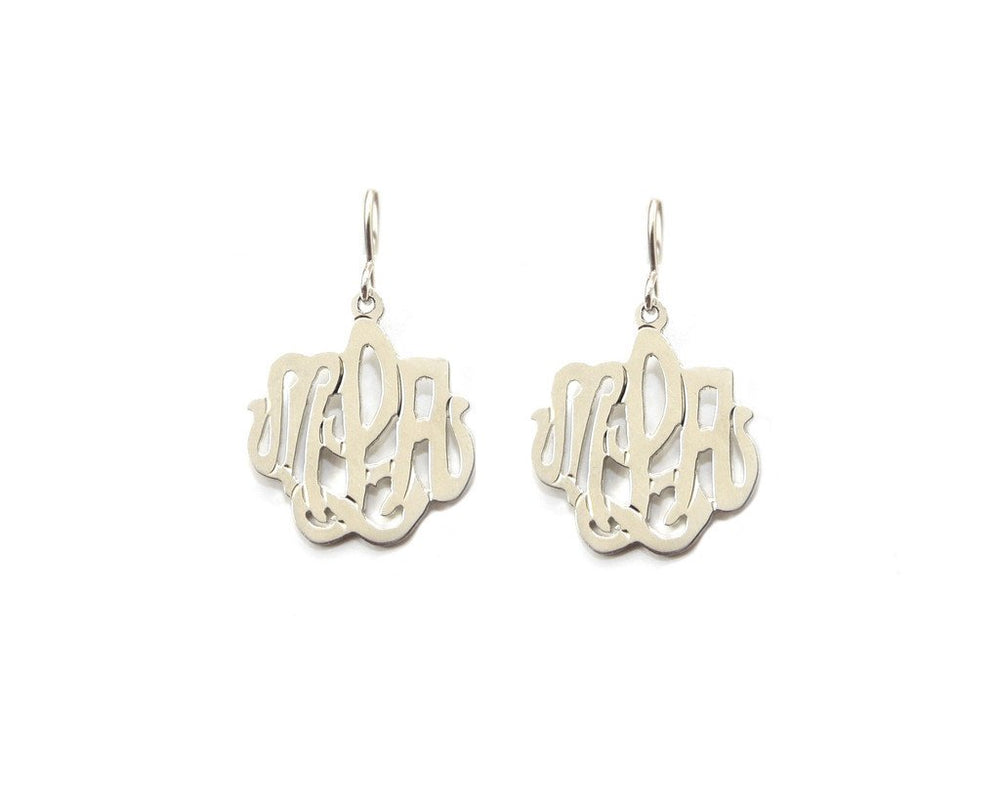 Cheshire Handcut Monogram Dangle Earrings