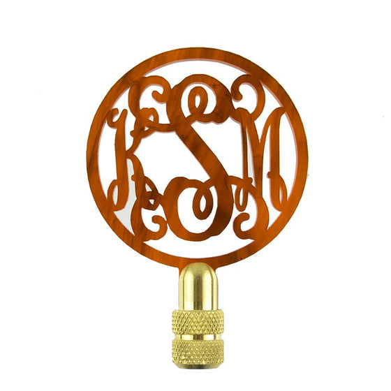 Script Monogram Lamp Finial