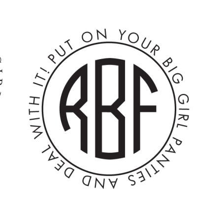 Circle Monogram & Text Stamp