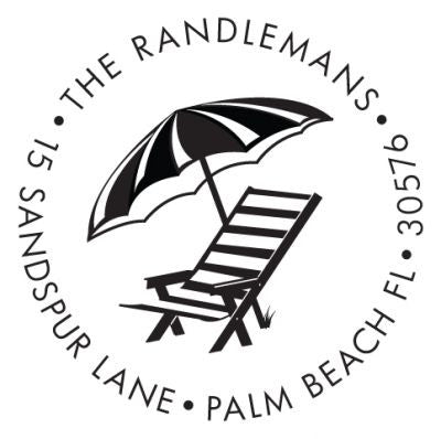 Beach Chair Address Stamp
