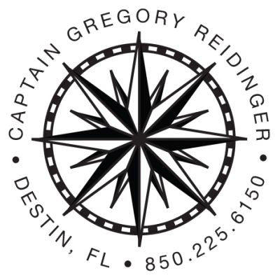 Compass Address Stamp