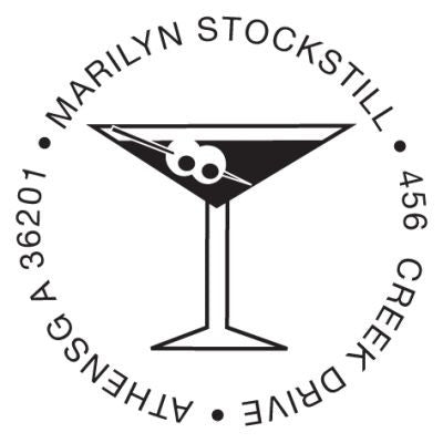Martini Address Stamp