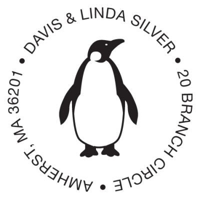 Penguin Custom Address Stamp